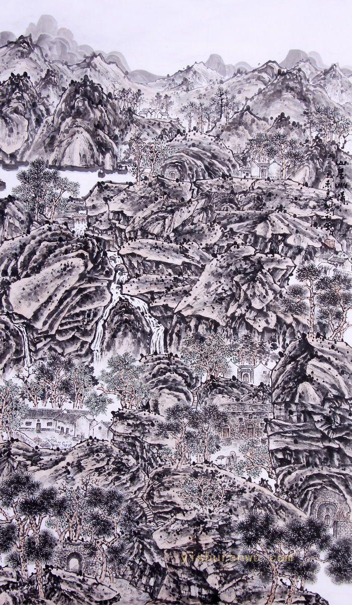 刘柏山山水画