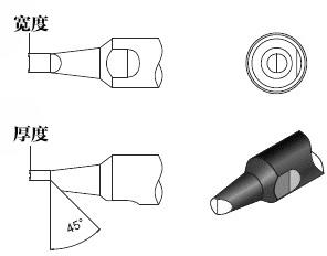 910-10PC自动焊锡机烙铁咀尺寸图