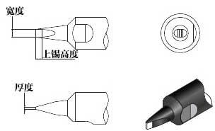 911-24D自动焊锡机器人烙铁咀尺寸图