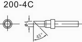 200-4C马蹄形烙铁咀