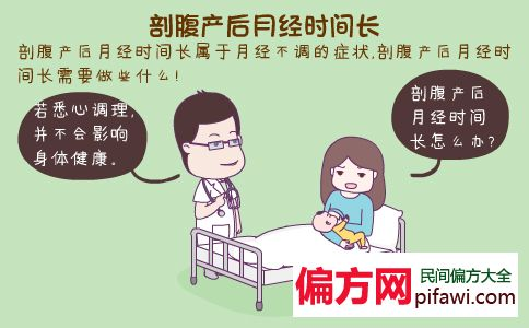 剖腹产后月经时间长正常吗