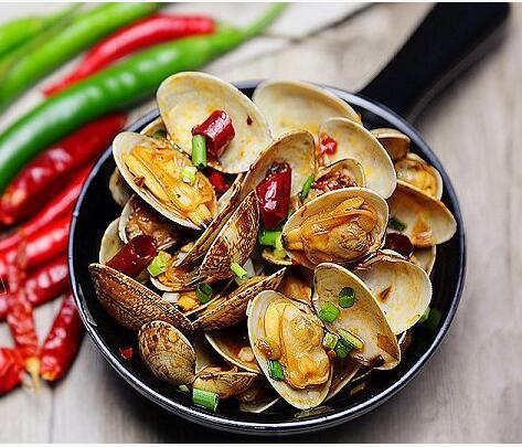 辣炒花蛤做法和配方