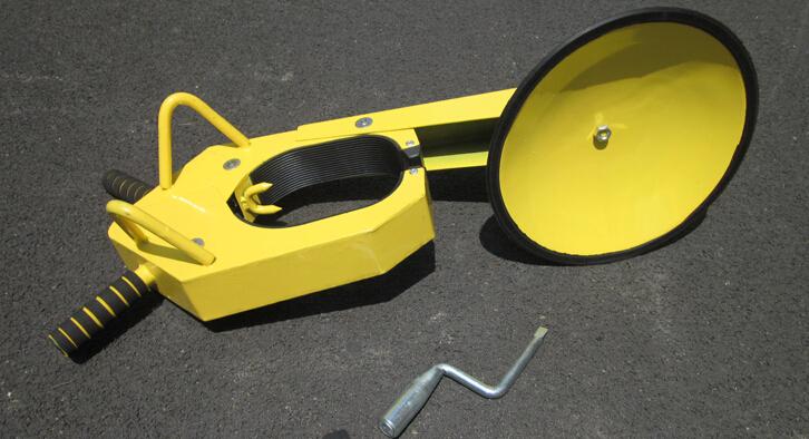 吸盘车轮锁