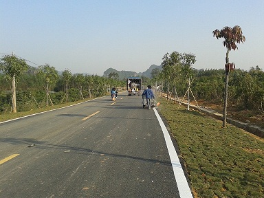 伏塘公路划线
