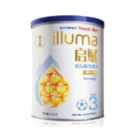 惠氏启赋(Wyeth illuma)幼儿配方奶粉 3段 400g/罐(1-3岁)