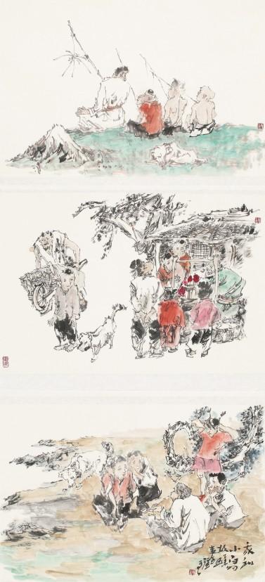 描绘中国梦郑州百幅国画精品展之人物画作品