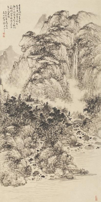 描绘中国梦郑州百幅国画精品展之山水画作品
