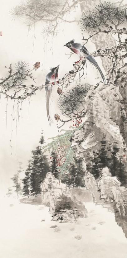 描绘中国梦郑州百幅国画精品展之花鸟作品