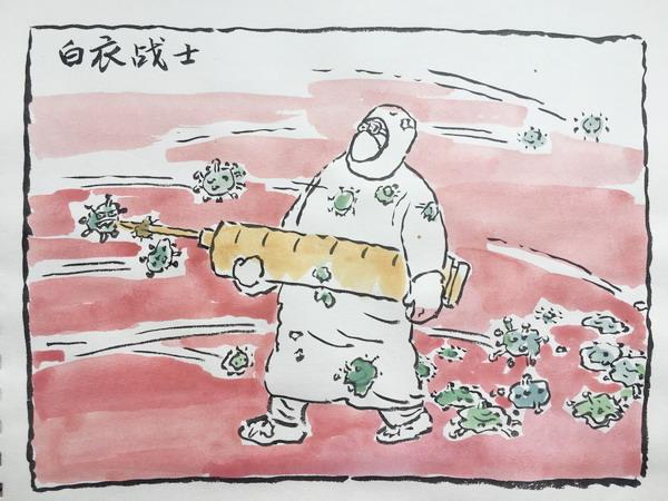 众志成城  抗击疫情——郑州美协战疫情防控漫画宣传