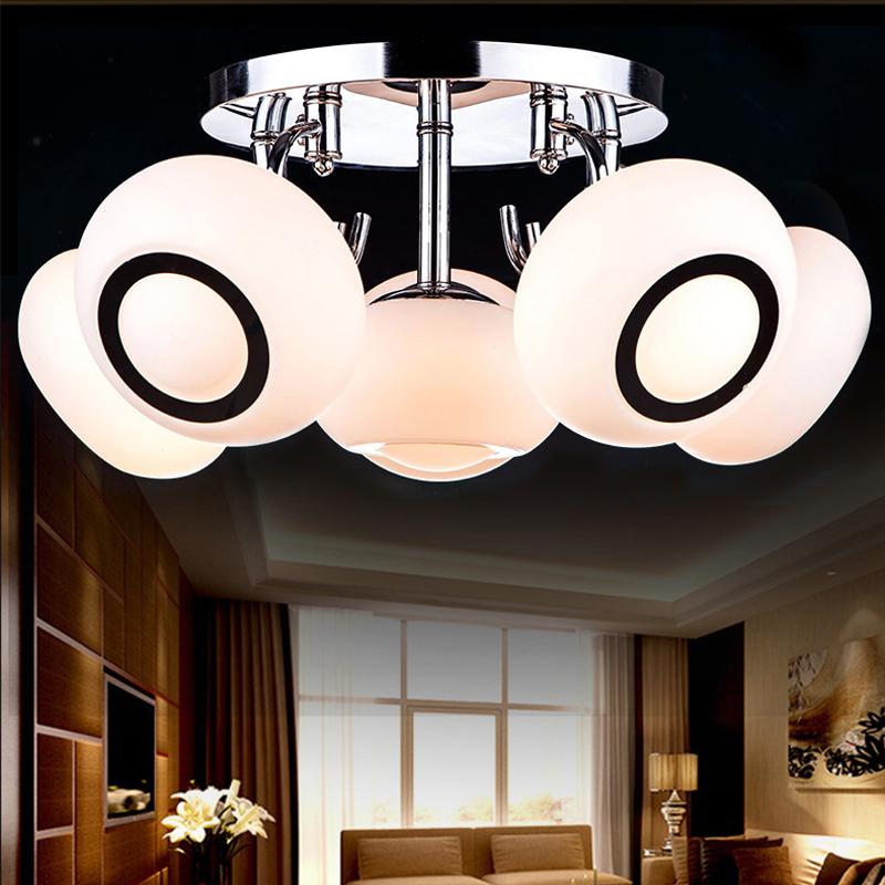 现代创意玻璃LED吸顶灯客厅灯卧室灯温馨浪漫儿童房书房餐厅灯具