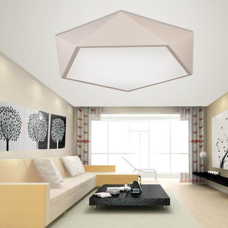 创意几何铁艺LED吸顶灯客厅灯现代简约卧室灯温馨浪漫餐厅灯具