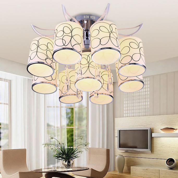 现代创意玻璃LED吸顶灯客厅灯大气卧室灯温馨浪漫书房餐厅灯具