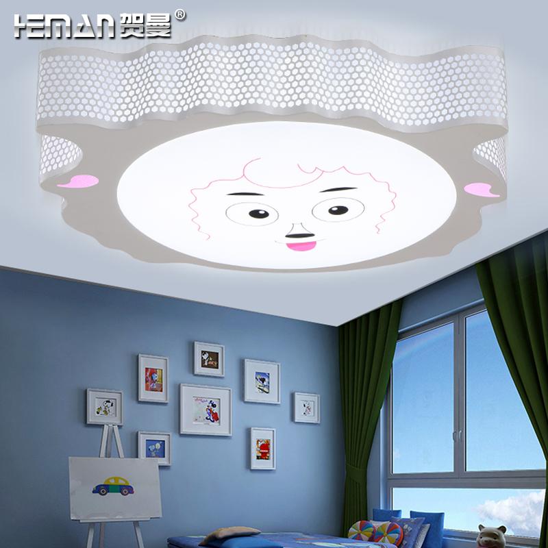 LED吸顶灯喜羊羊可爱卡通儿童房间灯卧室灯温馨浪漫客厅灯餐厅灯