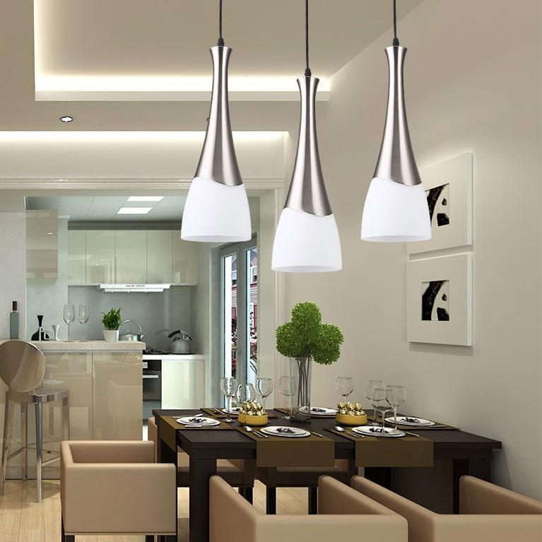 现代创意小吊灯LED餐厅灯吊灯三头卧室灯温馨客厅灯书房灯具