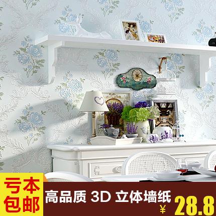 田园无纺布墙纸3d客厅电视背景墙卧室温馨现代儿童房壁纸5040系列