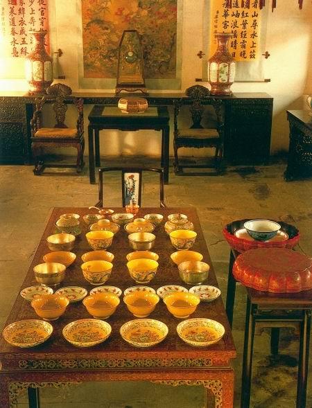 皇帝用膳时的餐具摆设