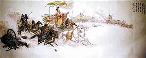"""晋文公遵守承诺,在与楚军交锋时""""退避三舍""""。"""