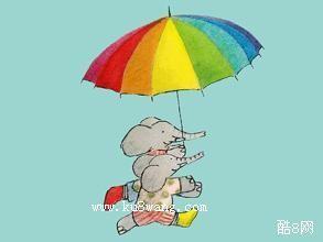 小象和大伞