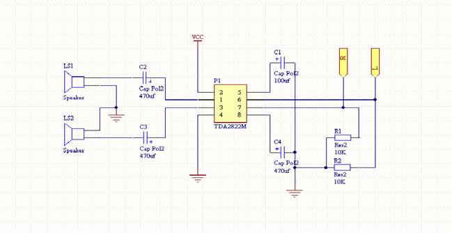 简易音频功放电路原理图