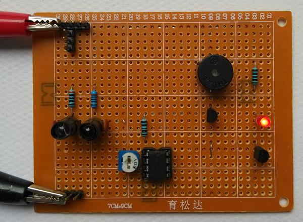 红外二极管感应报警电路设计与制作