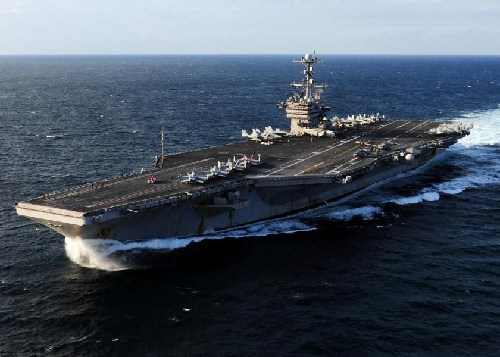 华盛顿号航母。