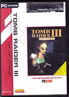 最初版古墓丽影Ⅲ黄金版:失落的神器(PC、塑料盒简装、英国)
