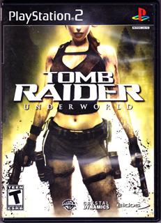 标版《古墓丽影8:地下世界》(PS2、塑料盒简装、美国)