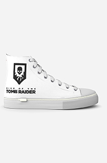 "GamerShoes可拆鞋:""古墓丽影:骷髅徽章 - 白色"""