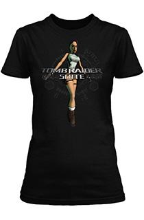 《古墓丽影组曲》众筹奖品:经典劳拉图案黑色女版《古墓丽影组曲》T恤