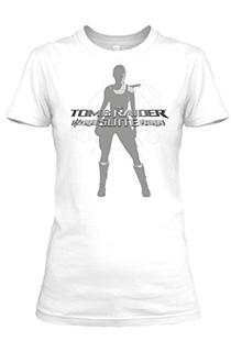 《古墓丽影组曲》众筹奖品:新劳拉图案白色女版《古墓丽影组曲》T恤