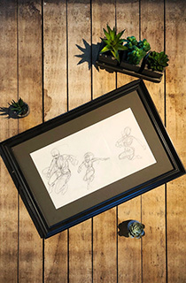 托比·加德《古墓丽影:传奇》概念草图:动作姿态