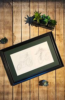 托比·加德《古墓麗影:傳奇》概念草圖:摩托