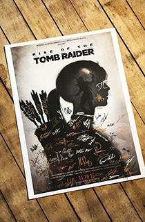 《古墓丽影10》开发团队签名海报