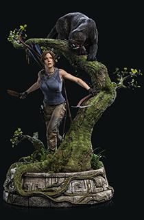 Weta出品《古墓丽影:暗影》劳拉人物场景雕像