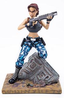 """12寸Gaming Heads出品特别版""""古墓丽影3:劳拉的冒险""""劳拉主题雕像"""