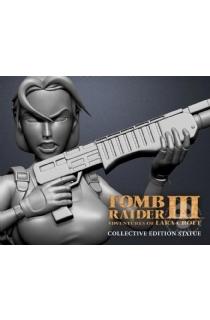 """12寸Gaming Heads出品收藏版""""古墓丽影3:劳拉的冒险""""劳拉主题雕像"""
