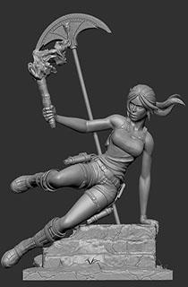 """16寸Gaming Heads出品收藏版""""劳拉与奥西里斯神庙""""劳拉主题雕像"""