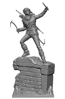 """21寸Gaming Heads出品收藏版""""古墓丽影:崛起""""劳拉主题雕像"""