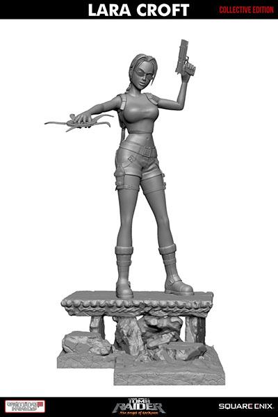 """17寸Gaming Heads出品收藏版""""古墓丽影:黑暗天使""""劳拉主题雕像"""