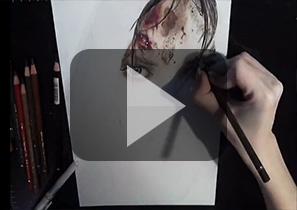 彩色铅笔速画《古墓丽影9》劳拉