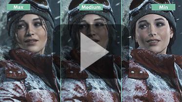 《古墓丽影10:崛起》PC版不同画质对比视频