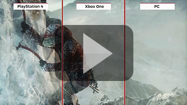 《古墓丽影:崛起》PS4、PC、Xbox One演示视频对比