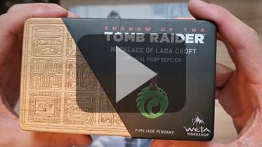 Weta出品《古墓丽影:暗影》翡翠项链拆封视频