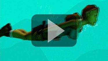 1996年《古墓丽影1》宣传视频:游泳