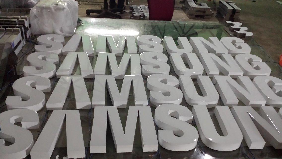 白色喷塑树脂字