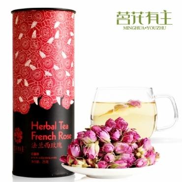 茗花有主 法蘭西玫瑰 花茶加盟代理一件代發