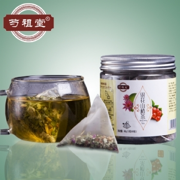 芍祖堂 银花山楂茶 花茶加盟代理一件代发