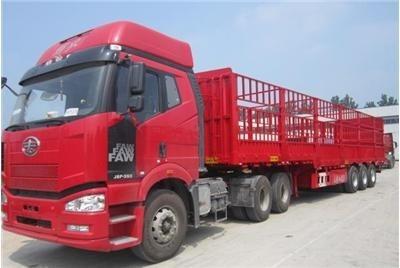 成都到西藏拉萨物流货运公司--13米高栏运输车型